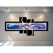 Quadros Abstratos Decorativo  Grande 189cm  lilás Sala escritório