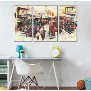Quadros Decorativos Abstrato aquarelado geometrico