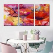 Quadros Decorativos Abstrato Floral moderno para sala