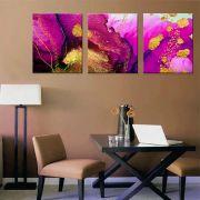 Quadros Decorativos Abstrato Marmorizado Rosa Gold