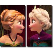 Quadros Decorativos Anna e Elsa 2 peças
