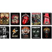 Quadros Decorativos Bandas de Rock 10 peças
