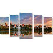 Quadros Decorativos Cidade de Moscow 5 Peças