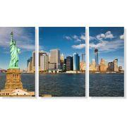 Quadros Decorativos Cidade de New York 3 peças