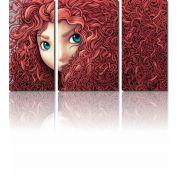 Quadros Decorativos Filme Valente 3 peças