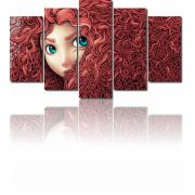 Quadros Decorativos Filme Valente 5 peças