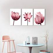 Quadros Decorativos Flores Minimalistas Rose