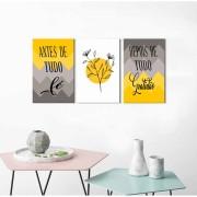 Quadros Decorativos Frases Fé e Gratidão