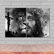 Quadros Decorativos Jesus e Leão de Judá