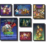 Quadros Decorativos Kit Scooby-Doo 7 peças