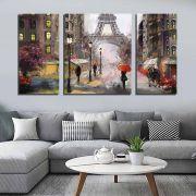 Quadros Decorativos  Paris Torre Eiffel 3 Peças