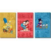 Quadros Decorativos Personagens Desenho Animado 3 peças