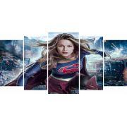 Quadros Decorativos Super Girl 5 peças