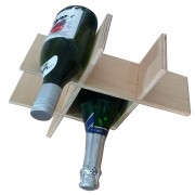 Suporte para Porta Vinho de 4 Garrafas em Naval