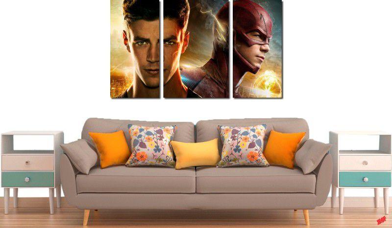 Quadro decorativo para quartos e salas serie flash 3 peças