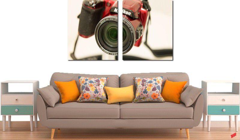 Quadro decorativo para quartos e salas maquina fotográfica nikon 2 peças