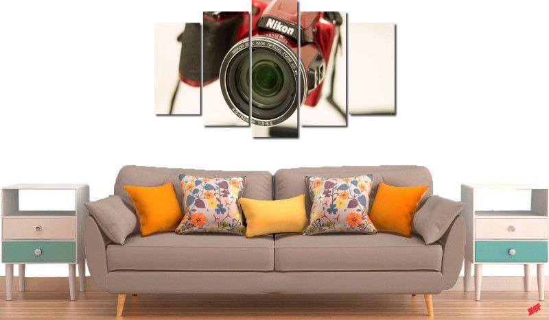 Quadro decorativo para quartos e salas maquina fotográfica nikon 5 peças