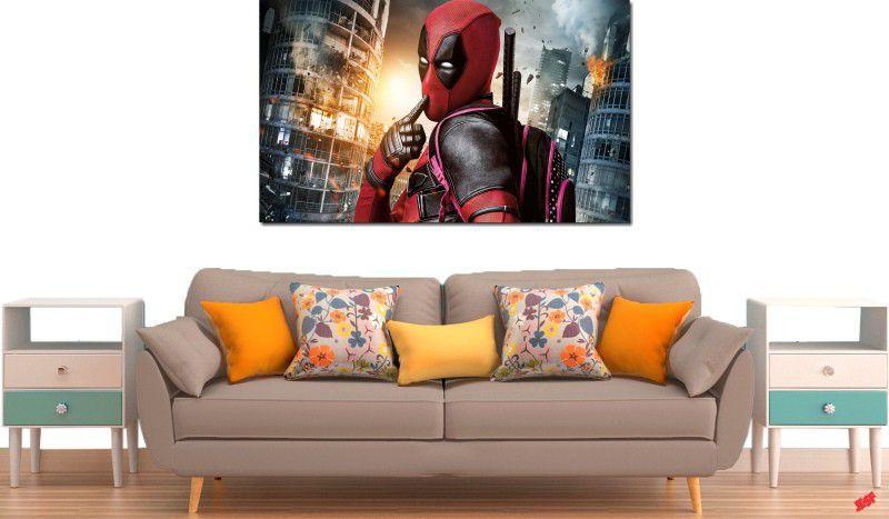 Quadro decorativo filme deadpool para quarto e sala 1 peça
