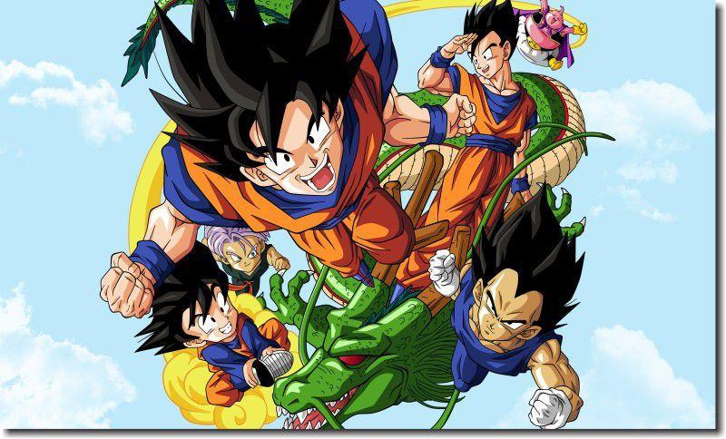 Quadro Decorativo Dragon Ball  Z Goku Super Sayajin  1 peça m8