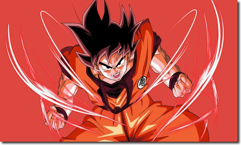 Quadro Decorativo Dragon Ball  Z Goku Super Sayajin  1 peça m9