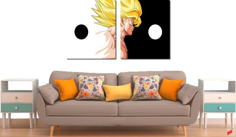 Quadro Decorativo Dragon Ball  Z Goku Super Sayajin  2 peças m10