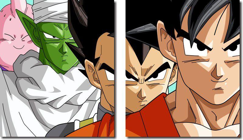 Quadro Decorativo Dragon Ball  Z Goku Super Sayajin  2 peças m11