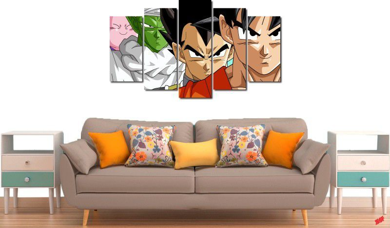 Quadro Decorativo Dragon Ball  Z Goku Super Sayajin  5 peças m11