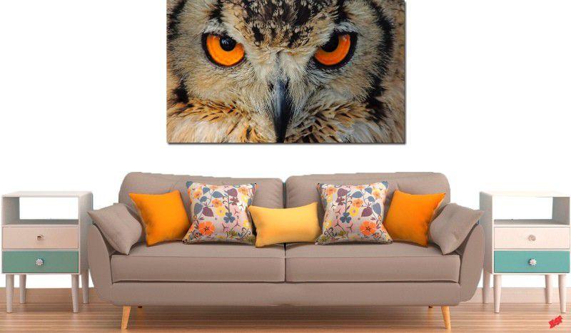 Quadro decorativo paisagem coruja para quarto e sala 1 peça