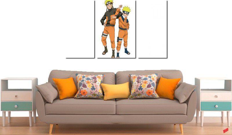 Quadro decorativo para quartos e salas do naruto 3 peças