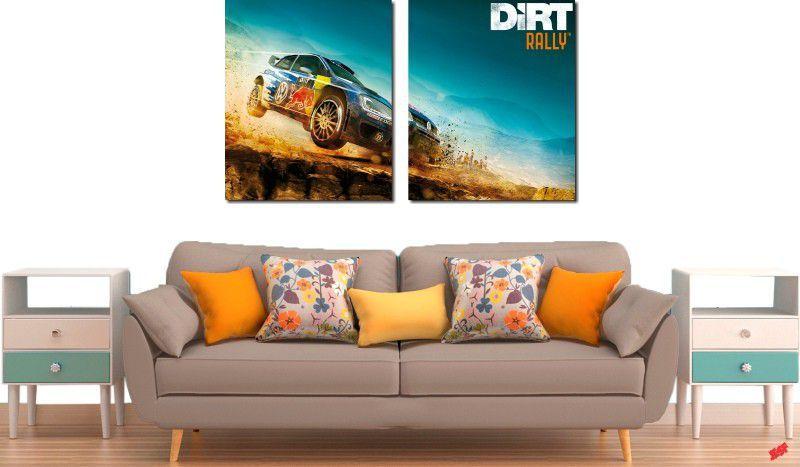 Quadro decorativos paisagem de carro para quartos e salas 2 peças