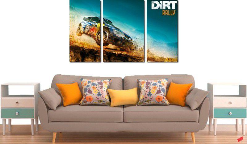 Quadro decorativos paisagem de carro para quartos e salas 3 peças