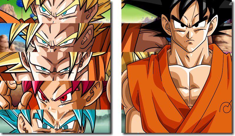 Quadro Decorativo Dragon Ball  Z Goku Super Sayajin  2 peças m13