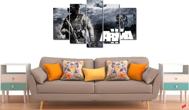 Quadros decorativo para quarto e sala jogo arma 3 5 peças