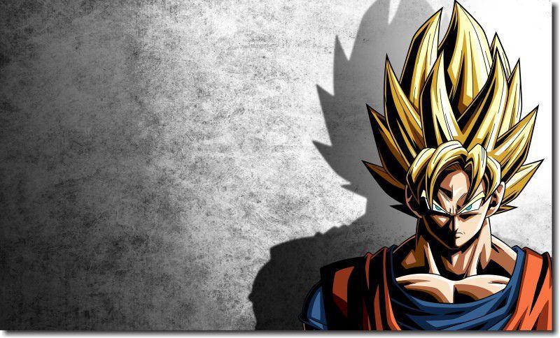 Quadro Decorativo Dragon Ball  Z Goku Super Sayajin  1 peça m16