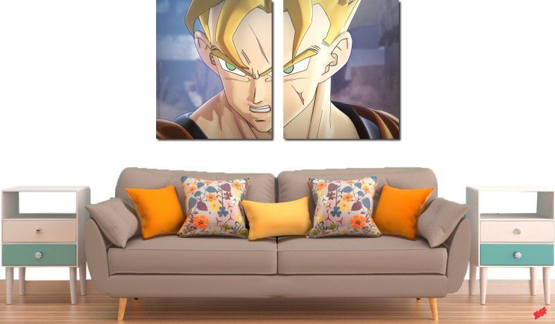 Quadro Decorativo Dragon Ball  Z Goku Super Sayajin  2 peça m19
