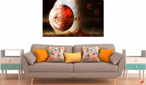 Quadro Decorativo Paisagem Lua Vermelha 1 Peça
