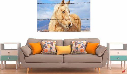 Quadro Decorativo Cavalo Amarelo 1 Peça