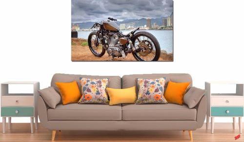 Quadro Decorativo Moto Harley Davidson 1 Peça