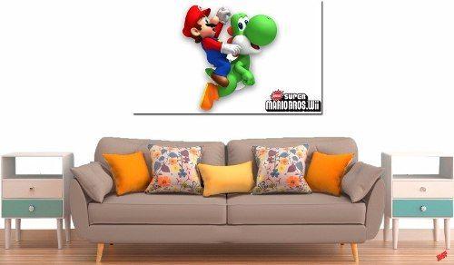 Quadro Decorativo Jogo Super Yoshi Mario 1 Peça M2