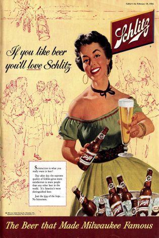 quadro vintage bebida modelo  Schzlit