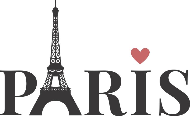 Adesivo Decorativo Torre Eiffel