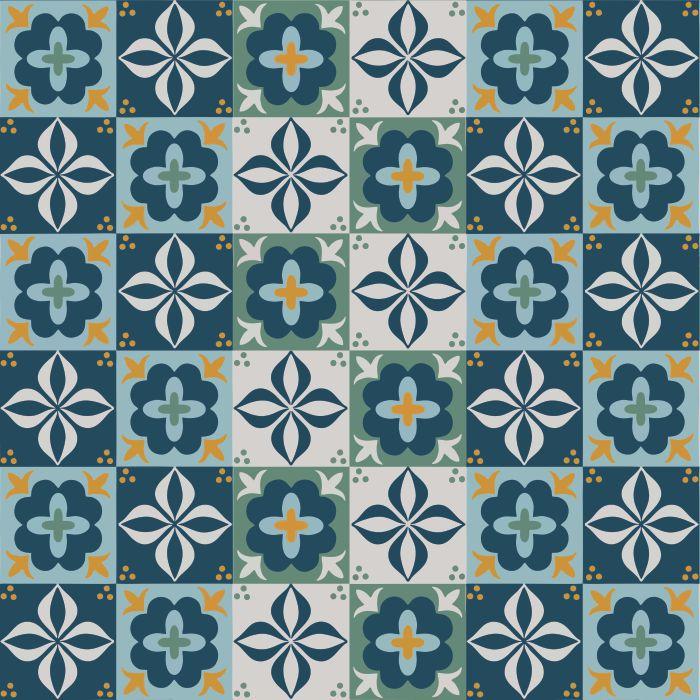Azulejos Hidráulico Turquesa