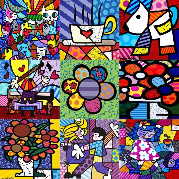 Azulejos em adesivo Quadros Decorativos Adesivos e papel de parede  Arte Quadro
