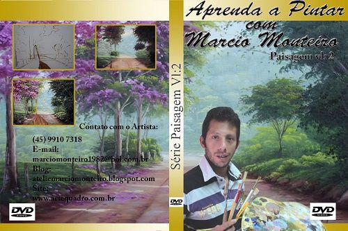 AULA DE PINTURA EM TELA -DVD VL. 2 PAISAGEM