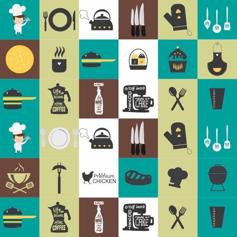 Azulejos Itens Cozinha