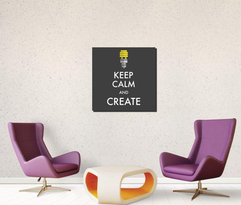 Quadro Keep Calm and create
