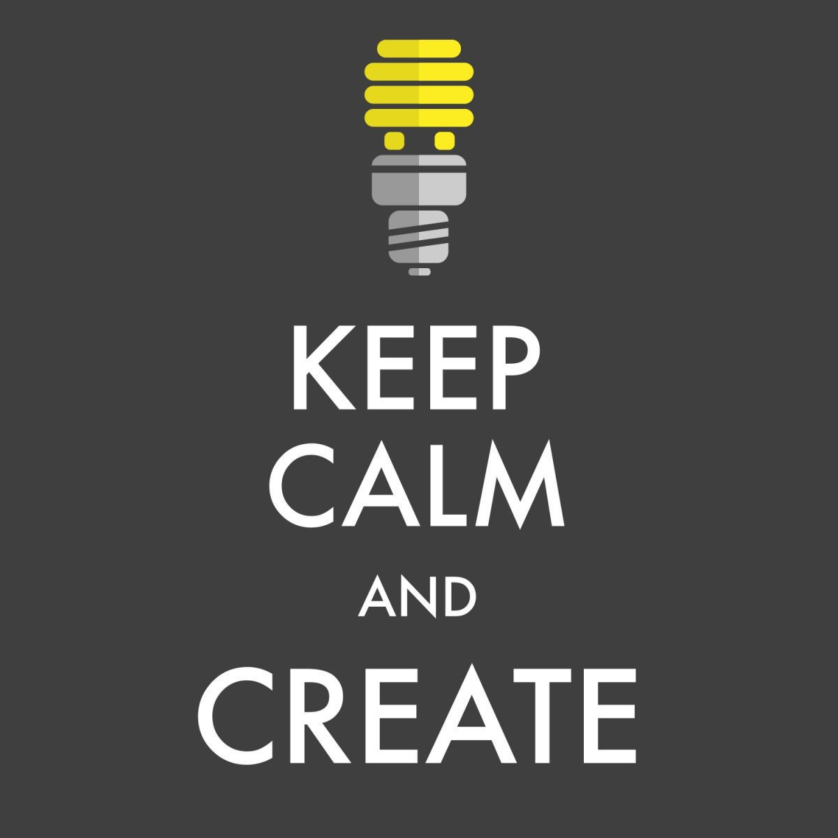 Quadro Keep Calm and create