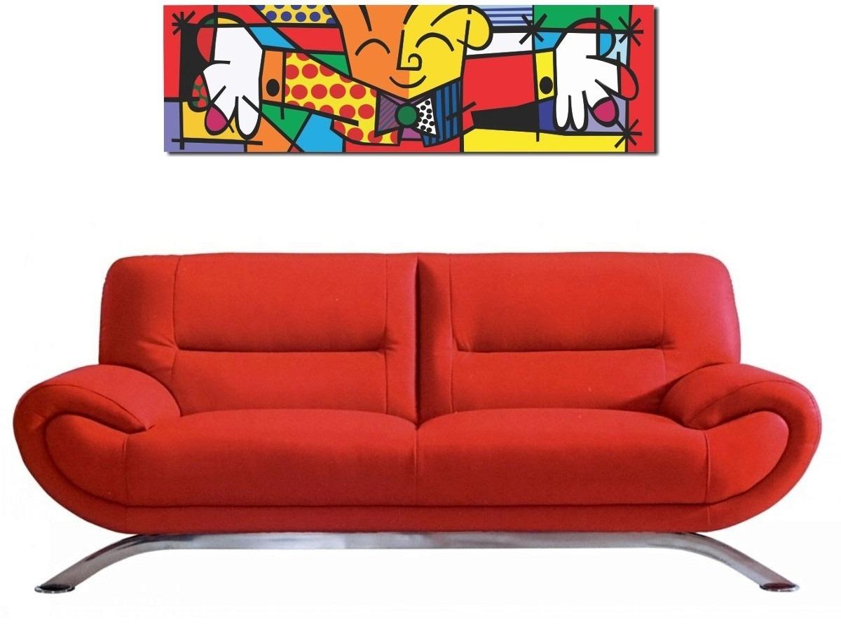 Quadro Decorativo Romero Britto The Hug O Abraço 30x100
