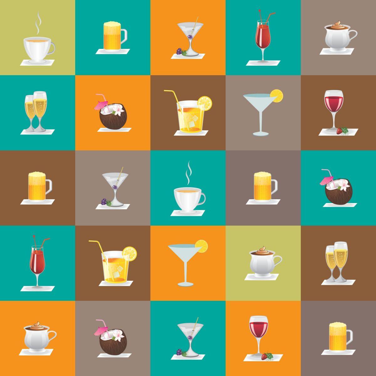 Azulejos de Adesivos Drinks