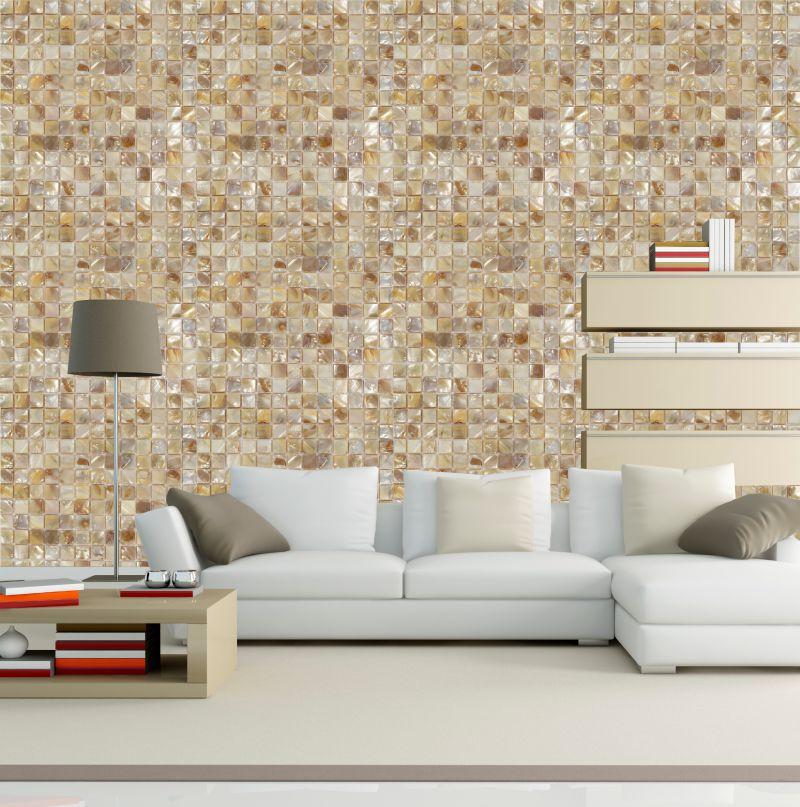 papel parede Mosaico Madre Pérola